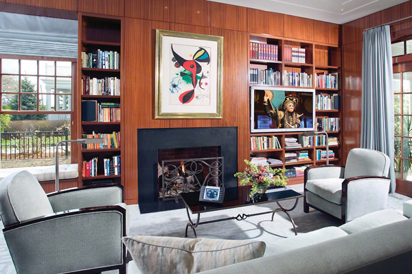 Library With Fireside TV